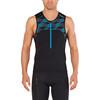 2XU Active Tri Singlet Men black/retro dresden blue